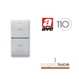 AVE 441053 Commutatore Pulsante Ave Domus Sistema 44 3 Posizioni 1P 10A