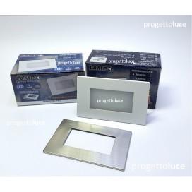 LAMPO SPLED503BN SEGNAPASSO LED INCASSO 503 INOX LUCE 4000K IP65 230V
