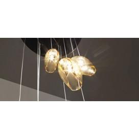 Vistosi Ninfea | lampadario a sospensione fumè