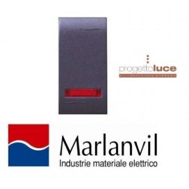 MARLANVIL 7706.1 PULSANTE LUMINOSO SERIE ONDA COMPATIBILE BTICINO LIVING