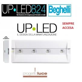 BEGHELLI 824MSA LAMPADA EMERGENZA A PARETE UP LED SA 100LM AUTON. 1,5H