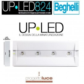 BEGHELLI 824S LAMPADA EMERGENZA UP LED 2H SE 100LM ULTRASOTTILE 20MM