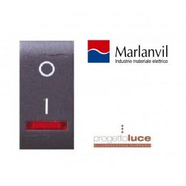 MARLANVIL 7712.2 INTERRUTTORE BIPOLARE luminoso COMPATIBILE BTICINO