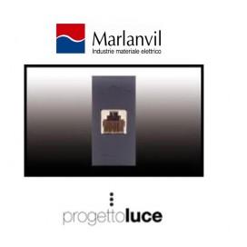 MARLANVIL 7764.4 PRESA TELEFONICA RJ11 6/4 COMPATIBILE BTICINO LIVING