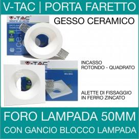 V-TAC | Portafaretto in gesso ceramico rotondo o quadrato