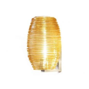 Vetreria Vistosi.Lampada da parete Damasco cristallo/topazio