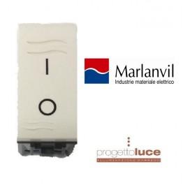 MARLANVIL 7613.2 INTERR. BIPOLARE ONDA COMAPATIBILE BTICINO LIVING LIGHT BIANCA
