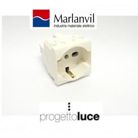 MARLANVIL 7648.I SCHUKO UNIV. 10/16A COMPATIBILE BTICINO N4140/16 LIVING LIGHT BIANCA