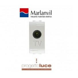 MARLANVIL 7658 PRESA TV UNIV. COMPATIBILE BTICINO LIVING LIGHT BIANCA