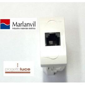 MARLANVIL 7664.4 PRESA TELEFONICA RJ11 ONDA COMPATIBILE BTICINO LIVING LIGHT BIANCA