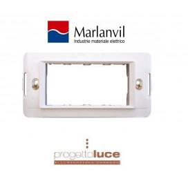 MARLANVIL 7724.B SUPPORTO 4 MODULI ONDA COMPATIBILE BTICINO LIVING LIGHT BIANCA