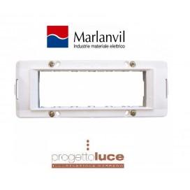 MARLANVIL 7726.B SUPPORTO 6 MODULI BIANCO COMPATIBILE BTICINO LIVING LIGHT