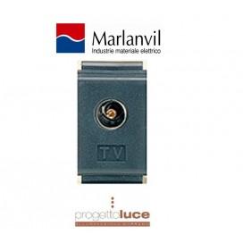PRESA TV 9,5MM PASSANTE MARLANVIL ARC 7858 COMPATIBILE BTICINO LIVING CLASSICA