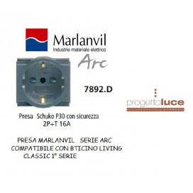 MARLANVIL ARC 7892.D PRESA SCHUKO/BOSCH COMPATIBILE BTICINO CLASSIC