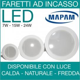 MAPAM | Faro faretto led incasso da 7W a 24W