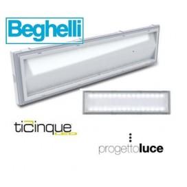 BEGHELLI 8584 LAMPADA DI EMERGENZA TICINQUE IP42 LED 18WSE8P