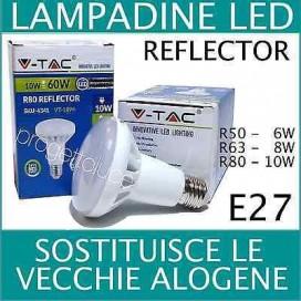 LAMPADA LAMPADINE LED V-TAC REFLECTOR E14 R50 6W R63 8W E 27 R80 10W BULBO