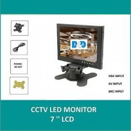 MONITOR LCD DIGITALE 7 TFT PER VIDEOSORVEGLIANZA CCTV AV VGA BNC