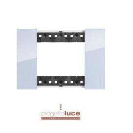 BTICINO KA4803DA PLACCA 3 MODULI LIVING NOW IN TECNOPOLIMERO COLORE SKY