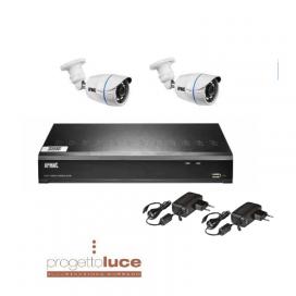 KIT URMET 1097/800 Videosorveglianza Tvcc Urmet 4 Ch Dvr 2 Telecamere 3.6 1092/001E