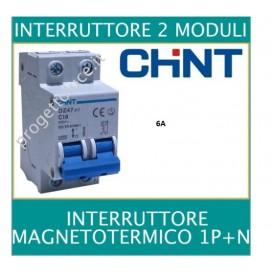 CHINT 41220 MAGNETOTERMICO 2X6A 1P+N 2 MODULI 4500KA