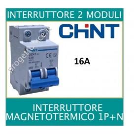 CHINT 41222 INTERRUTTORE MAGNETOTERMO 2X16A 2 MODULI 4500KA