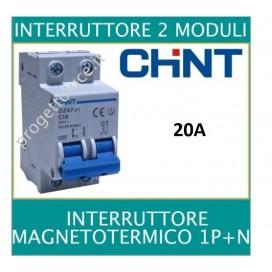 CHINT 41223 INETRRUTTORE MAGNETOTERMICO 2X20A 2 MODULI 4500KA