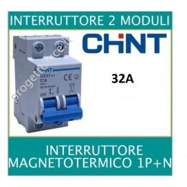 CHINT 41225 INTERRUTTORE MAGNETOTERMICO 2X32A 4500KA 2 MODULI