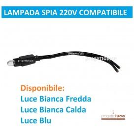 LAMPADA SPIA LED 230V BIANCA O BLU COMPATIBILE BTICINO LIVING,MATIX VIMAR GEWIS