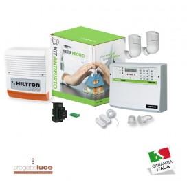 Kit Antifurto Hiltron Centrale PROTEC 4 Combinatore GSM ed accessori KPROTEC4GSM