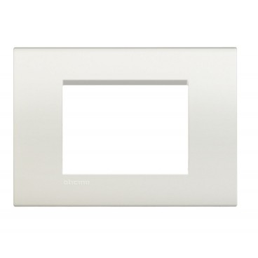 BTICINO LIVING LIGHT PLACCA 3 MODULI QUADRA LNA4803BI