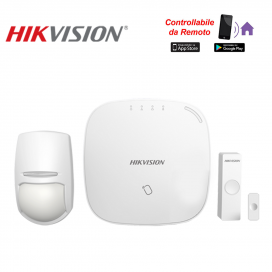 Hikvision AXUB Kit Allarme Wireless 868mhz centrale 32 zone wifi/lan/gprs app mobile Hik-connect