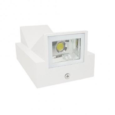 Applique LED per interni o esterni faretto doppia luce 10w lampada muro parete