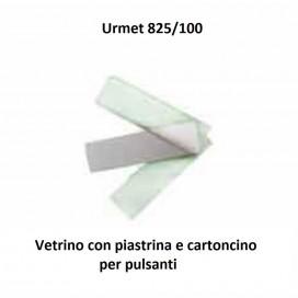 Vetrino con piastrina e cartoncino per modulo pulsanti URMET 825/100