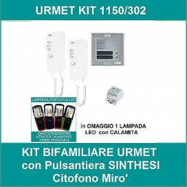 Kit URMET 1150/302 bifamiliare pulsantiera SINTHESI citofono MIRO