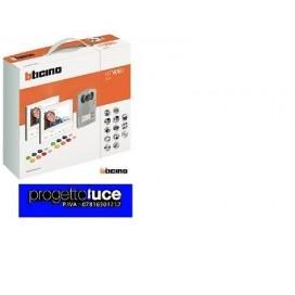BTICINO 365721 - KIT VIDEOCITOFONIA BTICINO BIFAMILIARE NEW MONITOR + BADGES