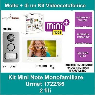 Impianti Citofonici A Due Fili.Urmet Kit Monofamiliare Video Citofono Colori 2 Fili 1722 85 Con