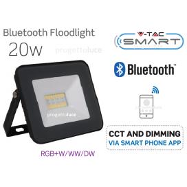 V-TAC VT-5020 FARO LED 20W CON WIRELESS SMART CONTROL RGB+W DIMMERABILE