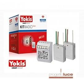 URMET 5454521 KIT DEVIATORE YOKIS VIA RADIO POWER 1 RELE' 2000W E 2 TRASMETTITORE 2 CANALI