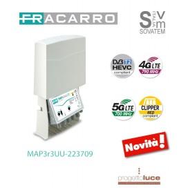 FRACARRO 223709 AMPLIFICATORE TV DA PALO 2 INGRESSI BANDE III+DAB+UHF, UHF 12V 21DB