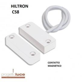 HILTRON C58 CONTATTO SENSORE MAGNETICO REED PER PORTE E FINESTRE 2FILI CIA
