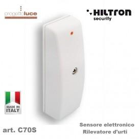 HILTRON C70S SENSORE ELETTRONICO ANTIFURTO RILEVATORE URTI 12V CONTATTO N.C. C70S