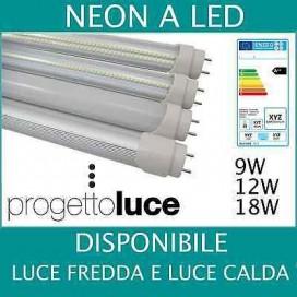 NEON LED TUBO LED ALTA POTENZA SOLAR W WATT 60 90 120 150 CM T8 LUCE WHARM / WH