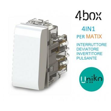 BTICINO MATIX 4BOX COMANDO MULTIFUNZIONE PER MATIX BTICINO TUTTO IN UN UNIKO COMANDO 4.B AM.CU