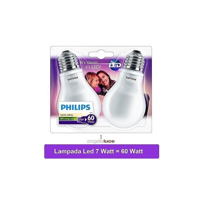 Lampadine led philips 7 w watt attacco e27 lampada bulbo for Offerte lampadine a led e 27