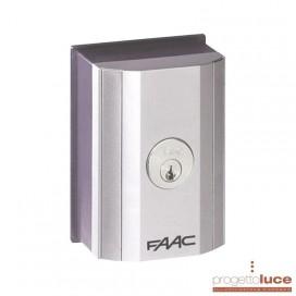 Pulsante a chiave Faac Esterno o su colonnina selettore T10E 4010191