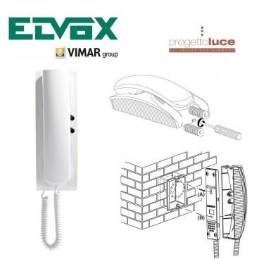 VIMAR 8870 CITOFONO ELVOX SOUND SYSTEM A PARETE COLORE BIANCO