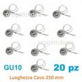 20 Portalampade con Cavi per Lampadine GU10 Porta Lampada Faretto 250V Ceramica