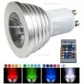 Lampadina faretto led GU10 5W RGB Multicolor con telecomando 21 funzioni