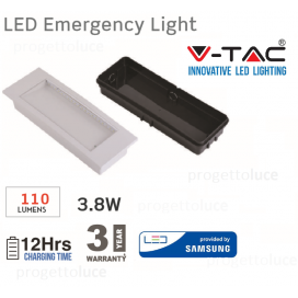 V-TAC LAMPADA LED D'EMERGENZA ANTI BLACK OUT CHIP SAMSUNG VT-511S 5 ORE AUTONOM